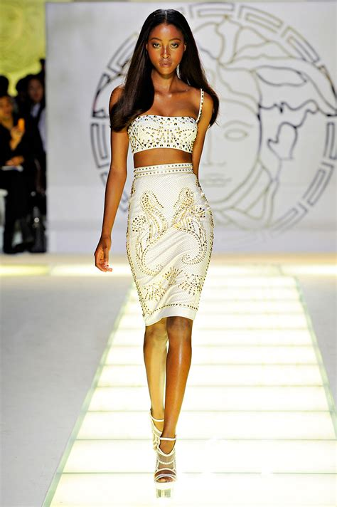 Versace Spring 2012. I love this white skirt the cut is perfect. versace knows how to cut ...