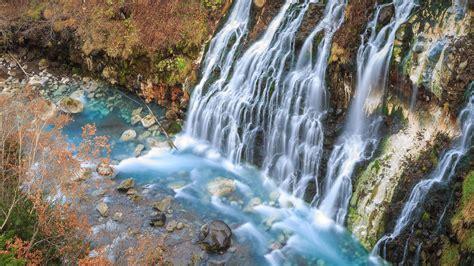 shirahige falls  bieihokkaidojapan wallpaper