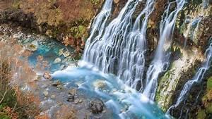 Shirahige, Falls, In, Biei, Hokkaido, Japan, Wallpaper