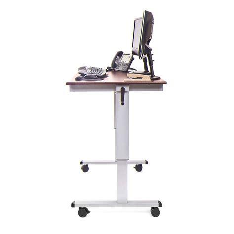 luxor stand up desk luxor adjustable height stand up desk dark walnut standup