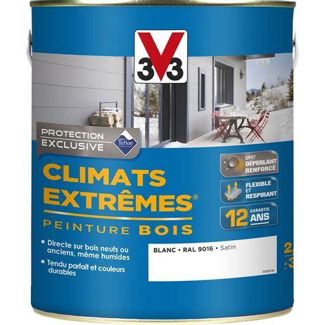 peinture cuisine v33 peinture bois extérieur climats extrêmes v33 satin blanc 2 5 l leroy merlin
