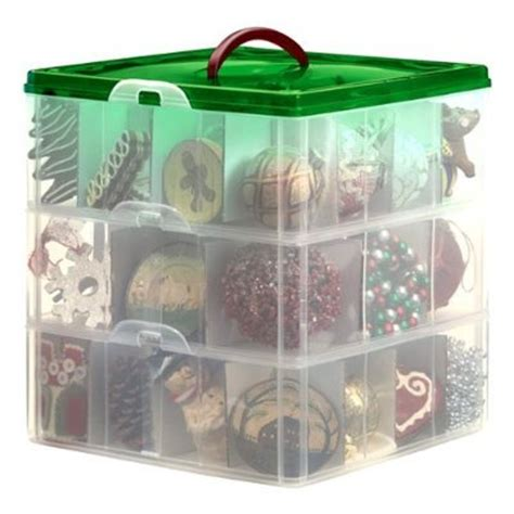 snapware 60621 snap n stack 3 layer ornament box with