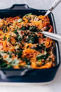 rutabaga baked ziti with mushrooms and kale a beautiful