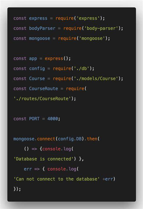 mongodb node js rest api  tutorial