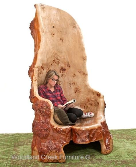 burl wood chairs add an unique tree furniture to your home