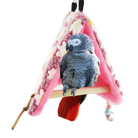 Hammock Bird by Pet Parrot Bird Hammock Hanging Cave Cage Plush Snuggle