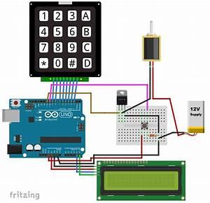 Keypad Door Lock With Changeable Code
