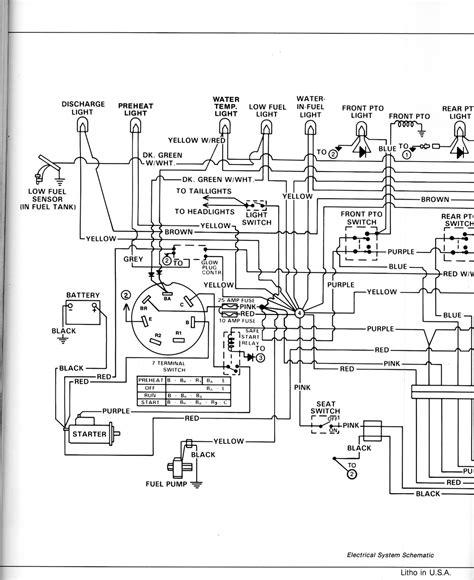 john deere  battery wiring diagram   tractor
