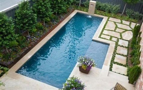 16 Garden And Backyard Swimming Pool Stepping Ideas That