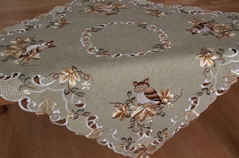 Tischdecke Herbst herbst mitteldecke tischdecke leinen optik gr 252 n beige eule