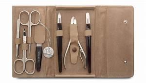 Nippes Solingen Manicure Set  7 Piece Set  Light Brown