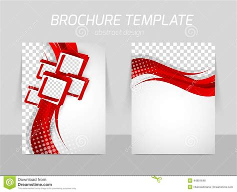 Design Folding Brochures Print Template Flyer Stock Vector Flyer Back And Front Template Design Stock Vector