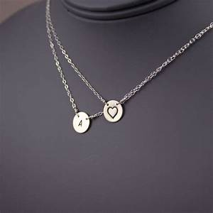 items similar to initial necklace double layered disc With layered letter necklace
