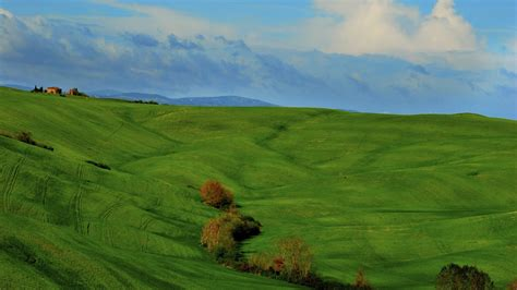 nature landscape clouds hill italy tuscany grass