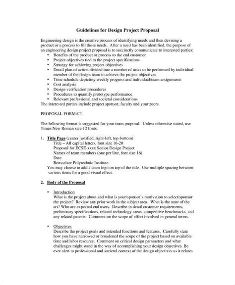 engineering project proposal templates  word