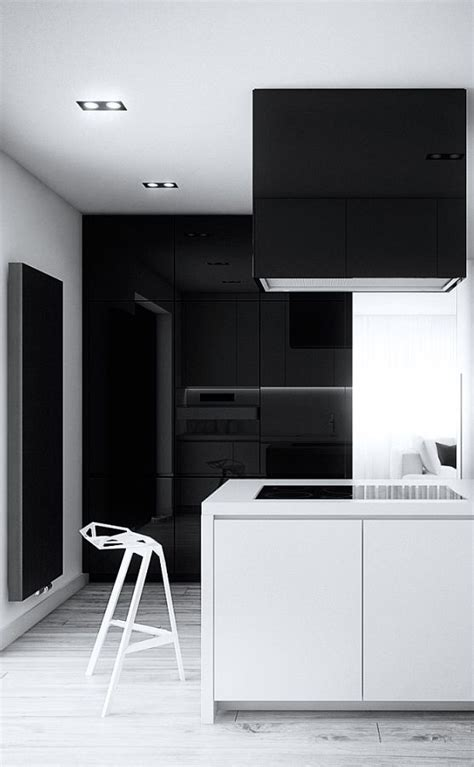 minimalist kitchen black  white kitchen cutout architects minimalist kitchen pinterest white kitchens black  architects