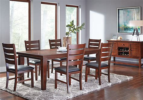 lake tahoe brown  pc rectangle dining room traditional