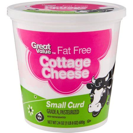 free cottage cheese great value free small curd cottage cheese 24 oz