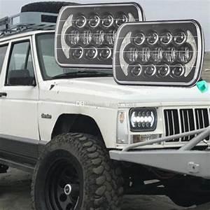 2019 5 X 7 Led Headlight Square Headlamp For Jeep Wrangler