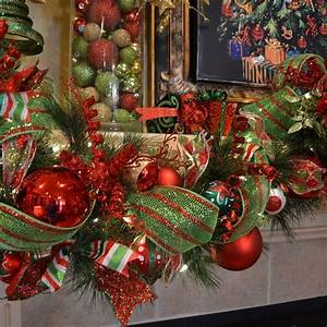 19, Lime, Green, And, Red, Christmas, Decoration, Trendy, Christmas, Fireplace, Garland, Idea