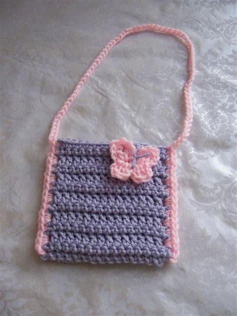 crochet girls purse toddler purse crochet purse  strap