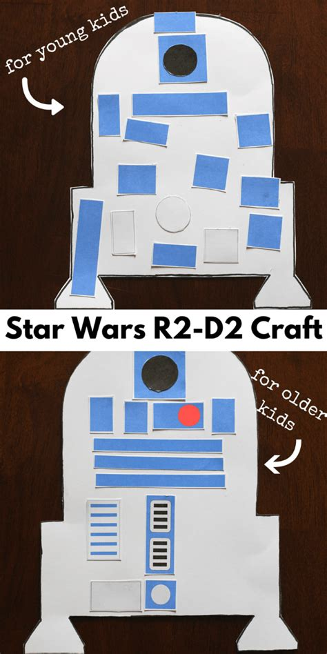 R2d2 Printable Template by Wars R2 D2 Craft For