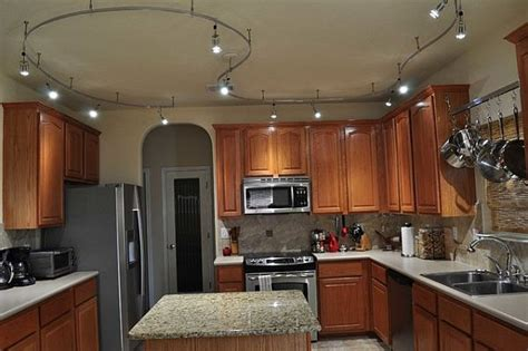 give your kitchen a trendy look with track lighting