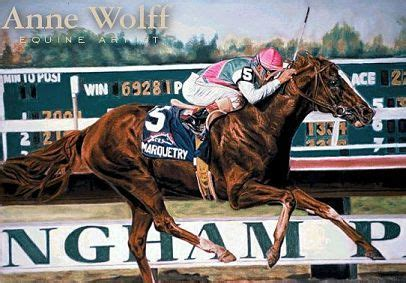 marquetry   racing days painted  anne wolff