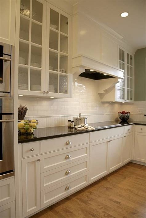 classic beauty  subway tile backsplash   kitchen