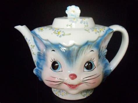 vintage lefton  priss cat kitten kitty teapot pitcher