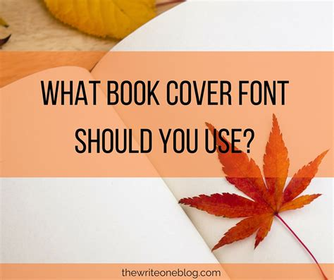 What Font Should Be Used When Writing A Resume what book cover font should you use