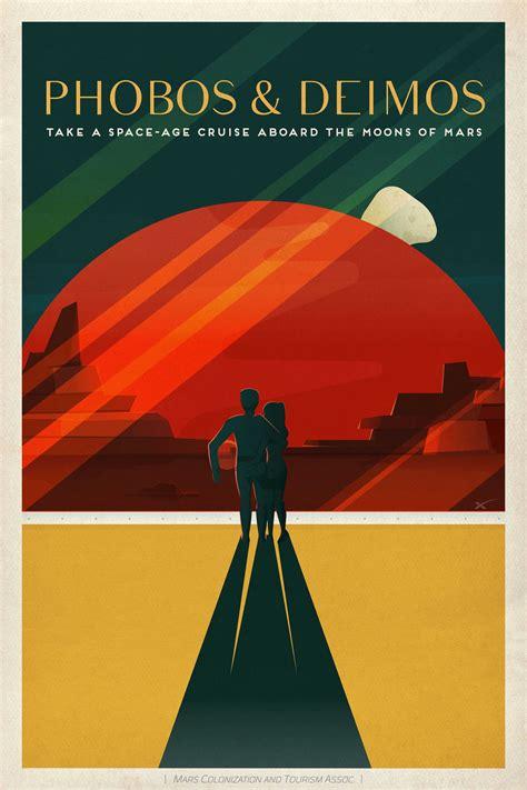 spacexs vintage travel posters       mars
