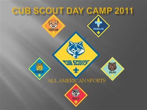 Cub Scout Day Camp 2011 Authorstream. November 2018 Calendar Microsoft Word Template. Short Persuasive Essay Example Template. Valentine Day Message From Mom To Son. Facebook Birthday Messages For Friends. One Page Portfolio Template. Job Description Word Template. Attendance Sign In Sheet. Commission Structure For Sales Template