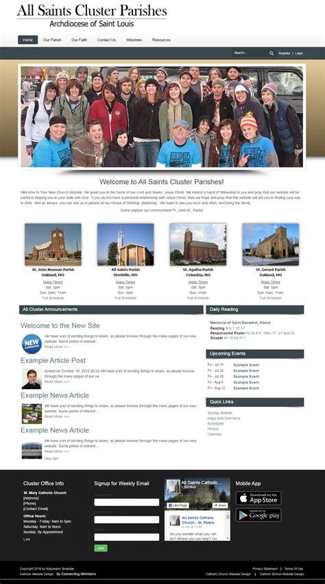 catholic church website template nature