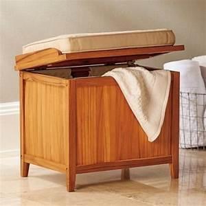 hamper bench with cushion teak bathroom storage seating With bathroom bench hamper