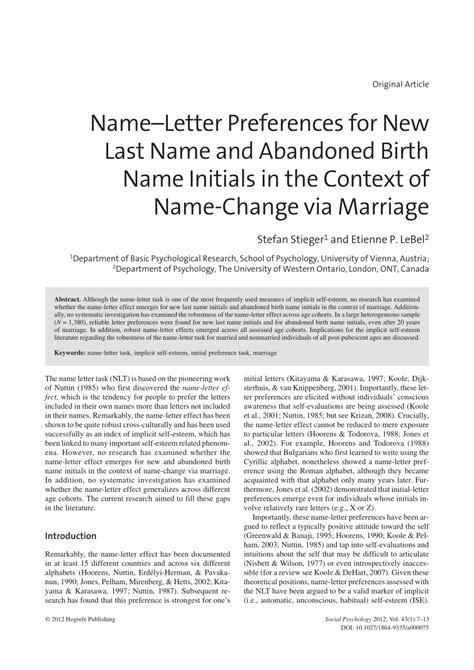 letter preferences