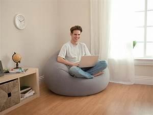 Mobilier Gonflable Exterieur : fauteuil gonflable gris poire 1 place intex jardideco ~ Premium-room.com Idées de Décoration