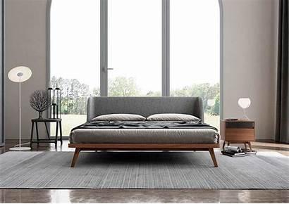Bed Walnut Modern Upholstered Natsu Ml Oak
