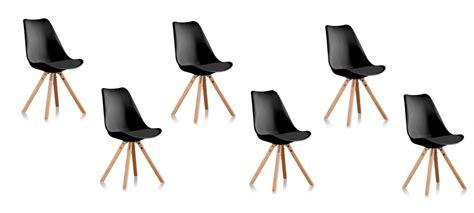 lot de 6 chaises noires lot 6 chaises de cuisine noires