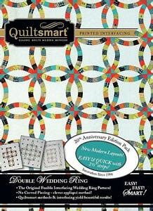 quiltsmart classic double wedding ring fusible interfacing pattern kit ebay