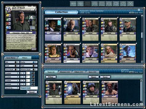 stargate  trading card game screenshots  pc