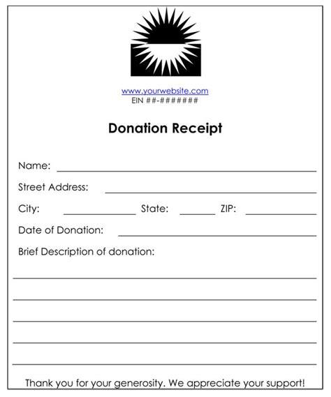 charitable donation receipt template non profit donation receipt