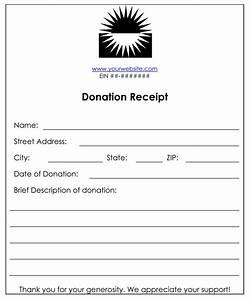 Cash Received Receipt Template Non Profit Donation Receipt