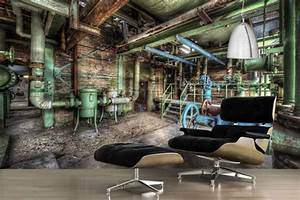Papier D Arménie Usine : poster mural design papier peint trompe l 39 oeil vieille usine ~ Melissatoandfro.com Idées de Décoration