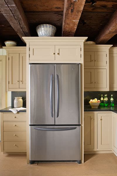 expertly  fridge farmhouse kitchen revival