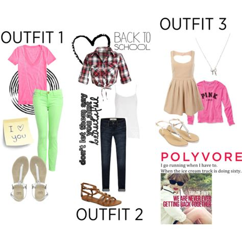 school ideas polyvore