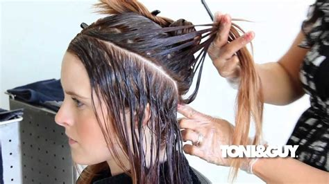 ombre balayage technique   color hair full length
