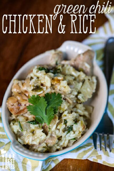 green chile chicken rice   bites