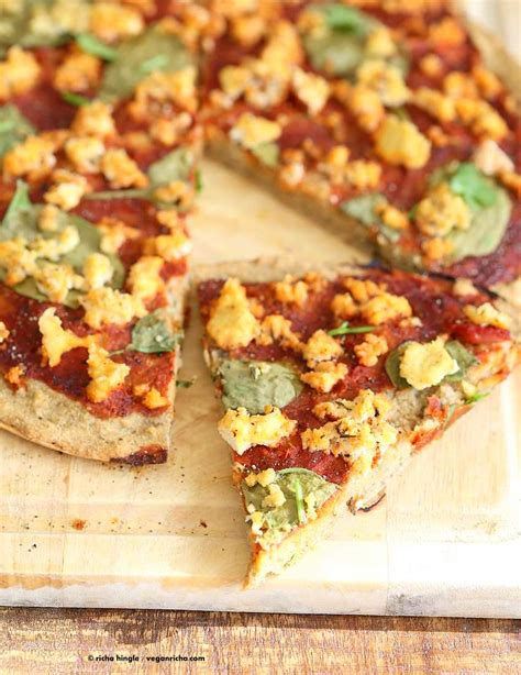 Gluten Free Yeast Free Vegan Pizza Crust Recipe  Vegan Richa