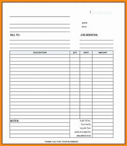 generic invoices printable blank invoice template free With generic invoice template pdf